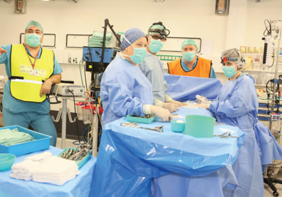An operating drill in Rambam hospital