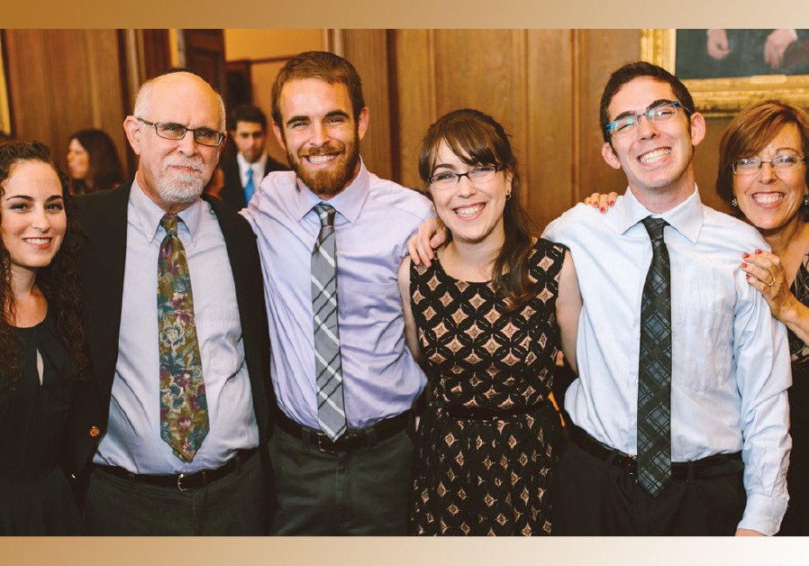 Aryeh Dean Cohen (second from left) with Shani (far right) and their four children