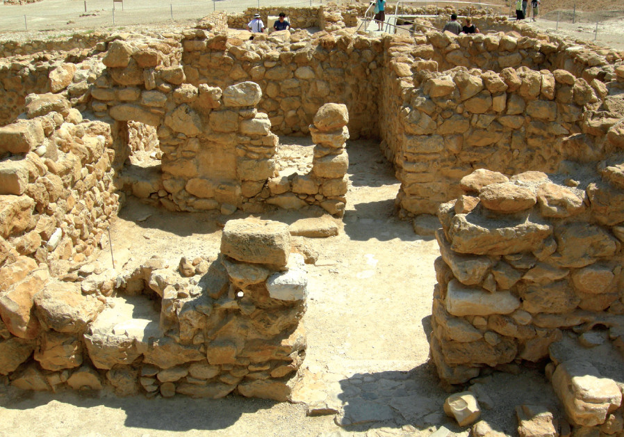 Remains of part of the main building at Qumran, where some scholars believe the Essenes lived