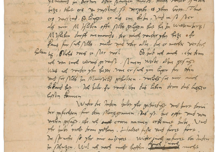 Letter by Martin Luther calling Jews 'devils incarnate'