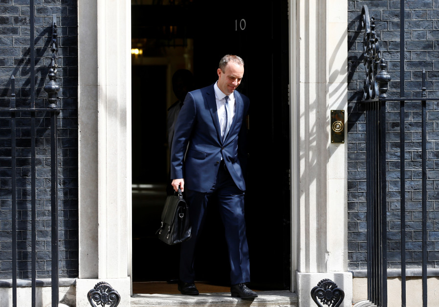Britain's newly appointed Brexit Secretary Dominic Raab leaves 10 Downing Street in London
