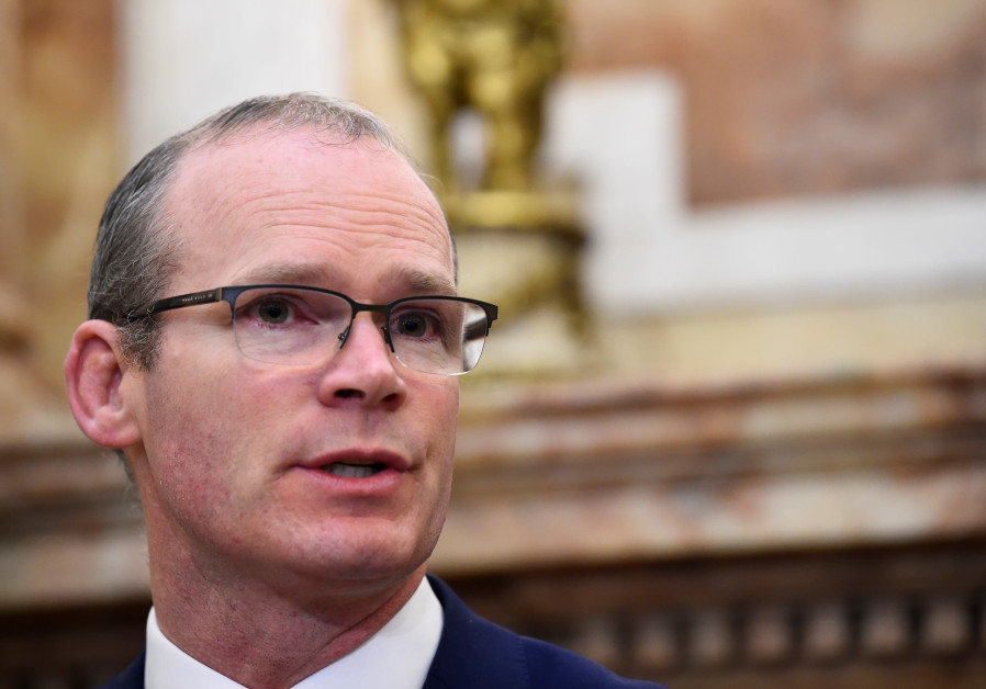 Ireland's Foreign Minister Simon Coveney speaks during a news conference in Dublin, Ireland