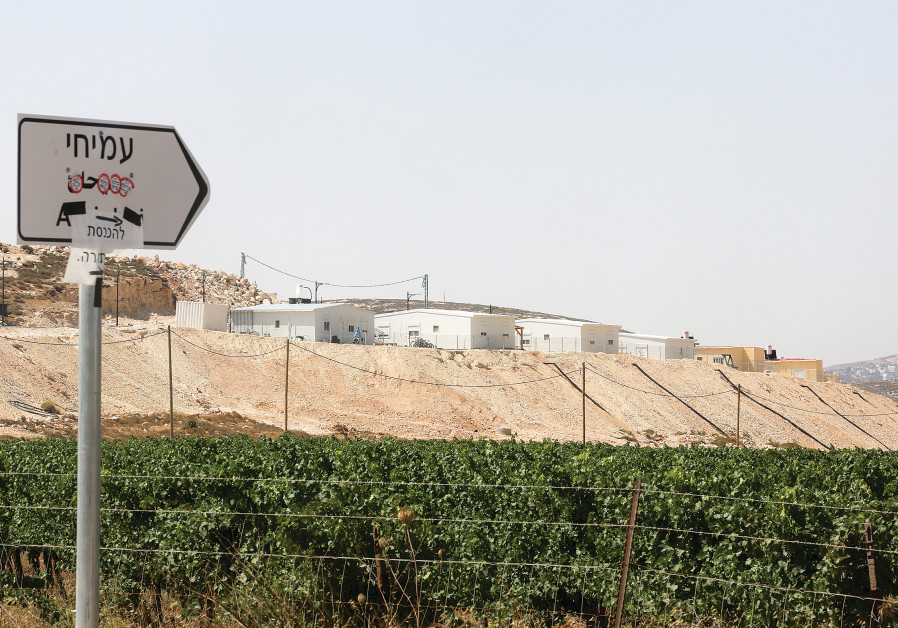 THE NEWLY built settlement of Amihai seen from the vinyards of Meshek Achiya just north of the Shilo