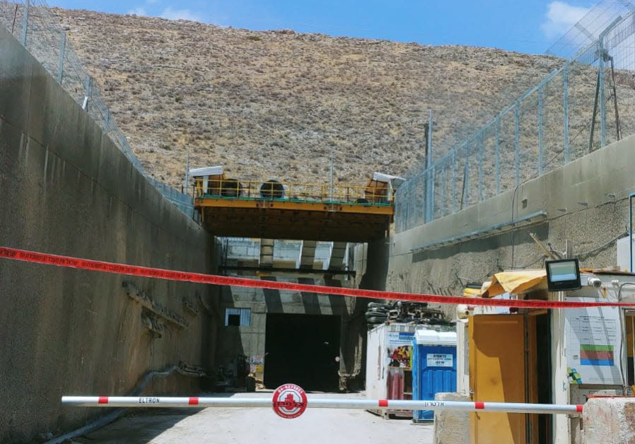 A closed construction site, after a tunnel collapse killed a worker, July 13, 2018