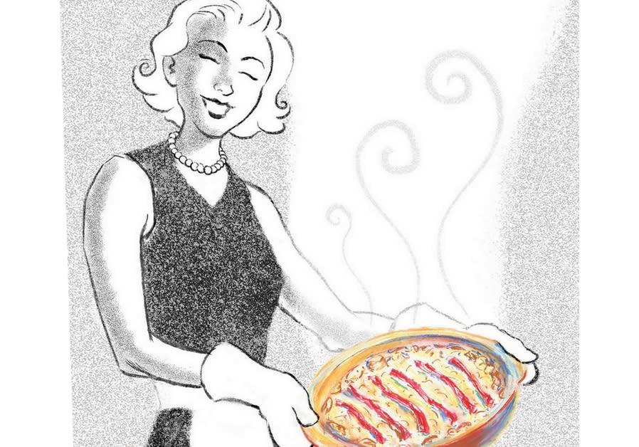 A woman with a pashtida (Illustrative)