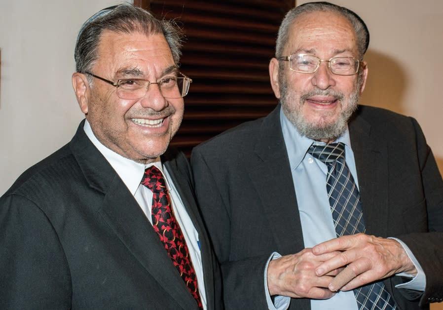 RABBI SHLOMO RISKIN (left) and Rabbi Chaim Brovender