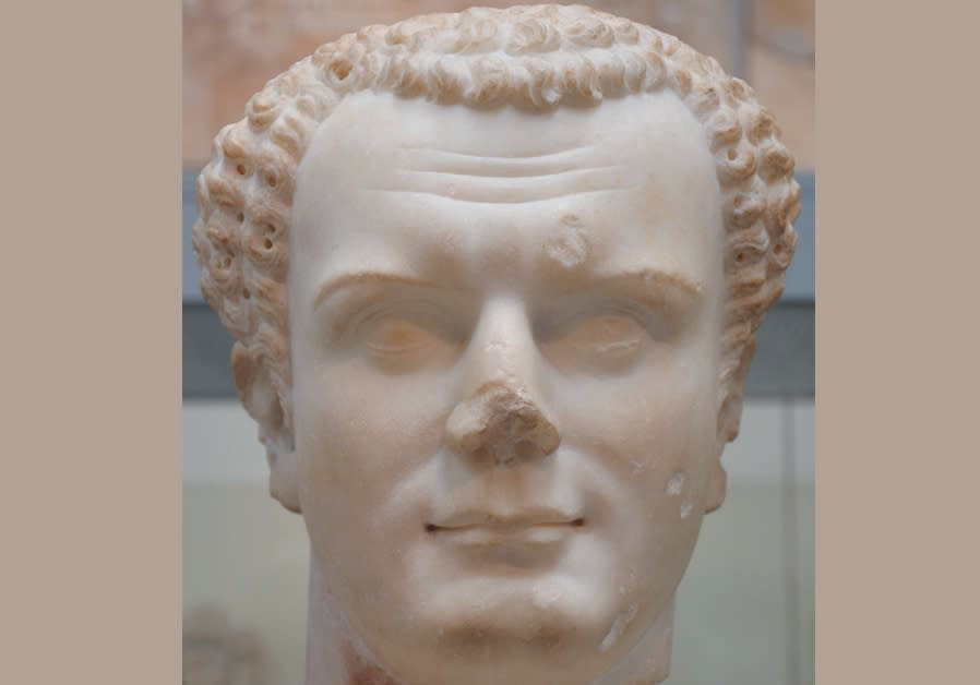 Bust of the emperor Titus, from Utica (Tunisia), about 70-81 CE, British Museum.
