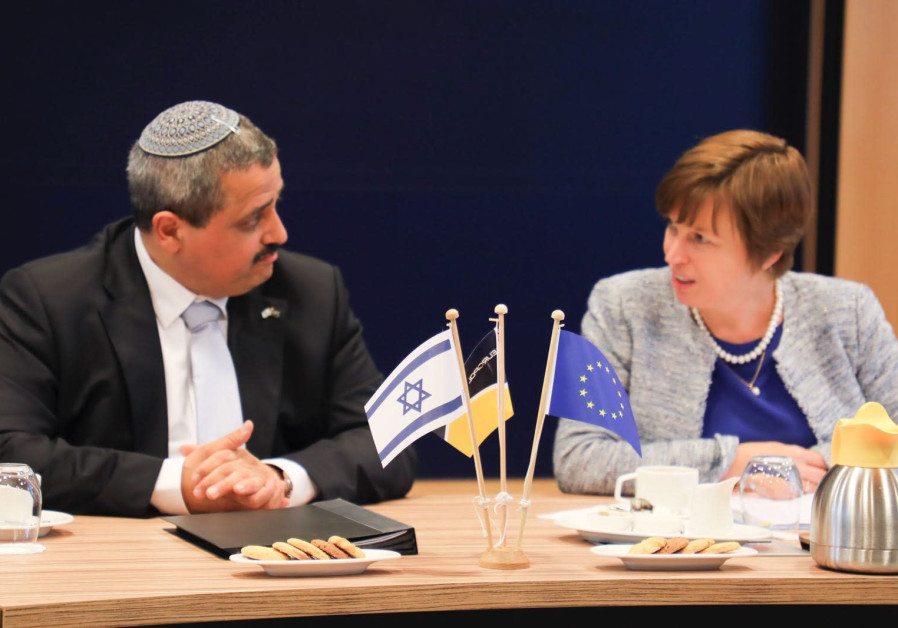 Israel Police Commissioner Inspector General Roni Alsheich and Catherine De Bolle, Executive Director of Europol in the Hague.