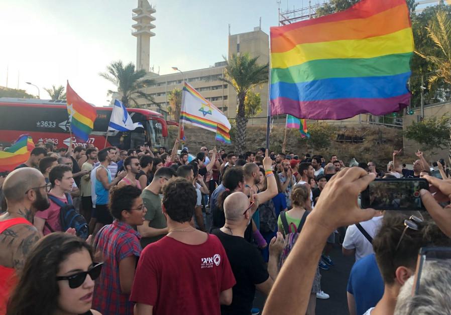 Hundreds of members of LGBT community protest surrogacy law in Tel Aviv