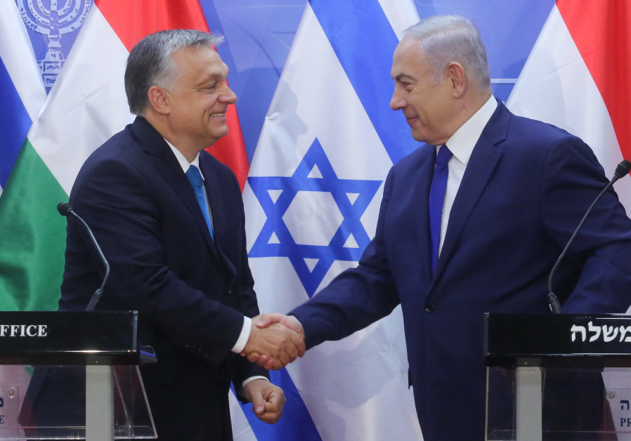 Prime Minister Benjamin Netanyahu meets with Hungary's Prime Minister Viktor Orban
