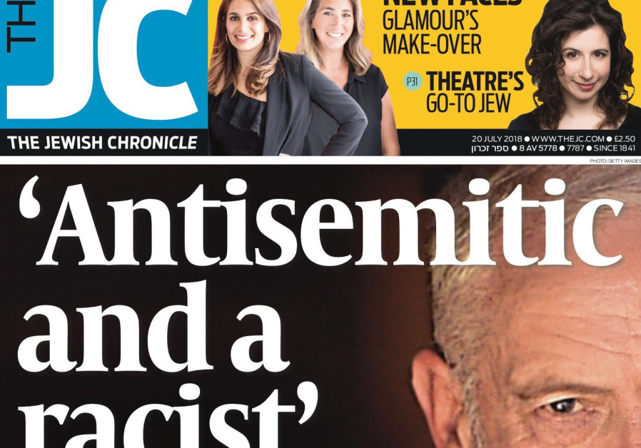 Image result for corbyn  jewish newspaper anti-semitism