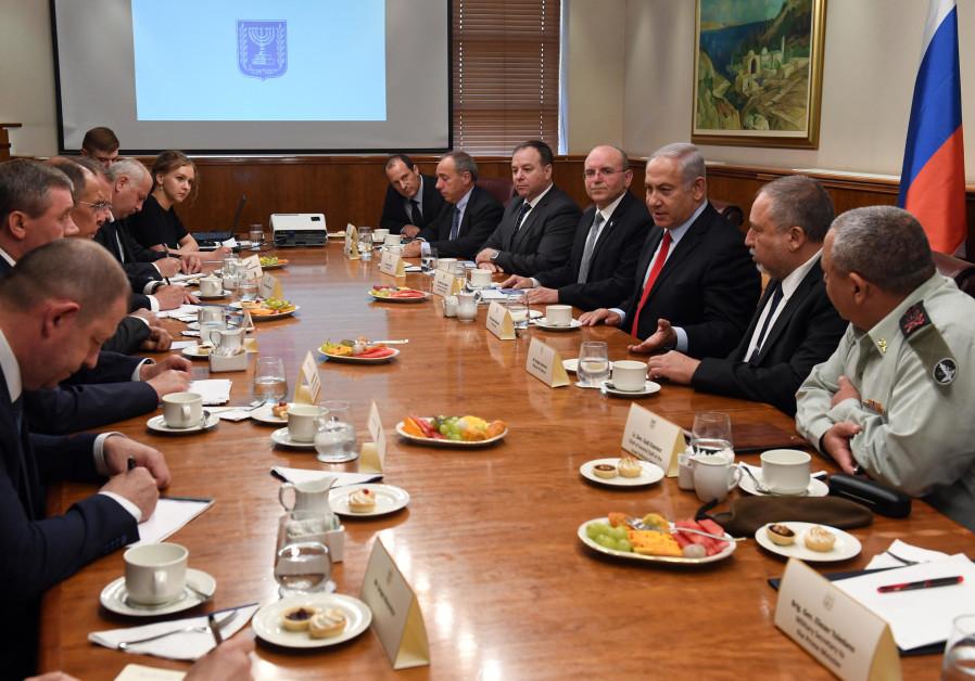 Netanyahu, Liberman and Eizenkot