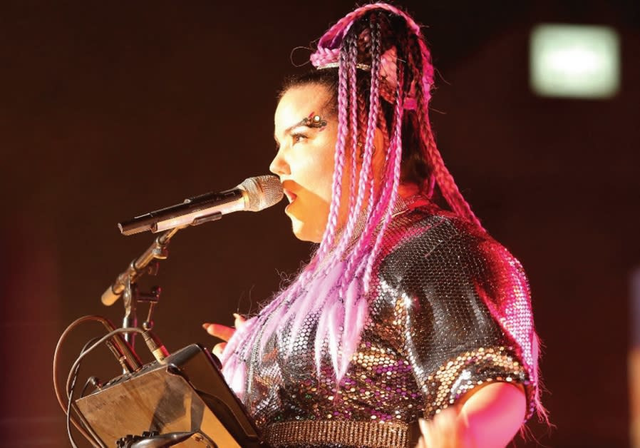 Netta Barzilai wows some 6,000 participants in a Taglit-Birthright Israel Mega Event at Jerusalem's