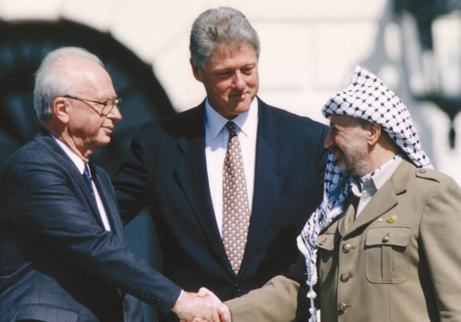 Yasser Arafat peace white house bill clinton yitzchak rabin