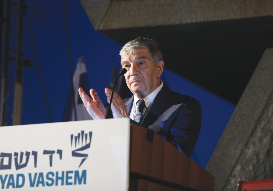 YAD VASHEM Chairman Avner Shalev greets the Generation to Generation: Israel at 70 Mission at  Yad Vashem, the World Holocaust Remembrance Center. (Courtesy Yad Vashem)