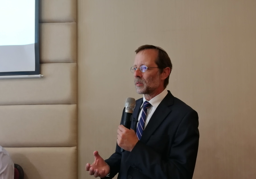 Zehut Party leader Moshe Feiglin at an event of his party in Tel Aviv
