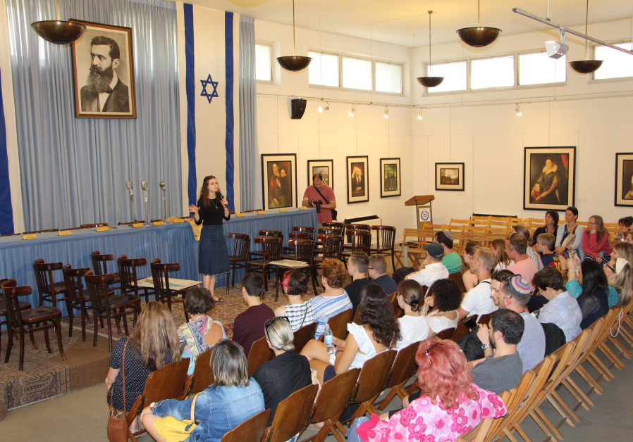 World Conference on Education participants at Independence Hall in Tel Aviv
