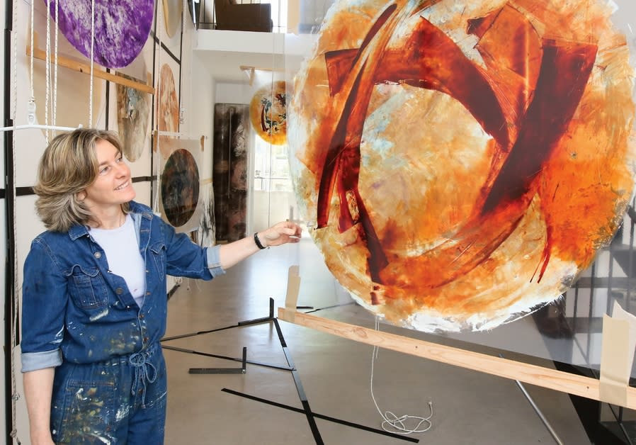 BEVERLY BARKAT looks at one of the paintings that will make up part of her new exhibition 'After the