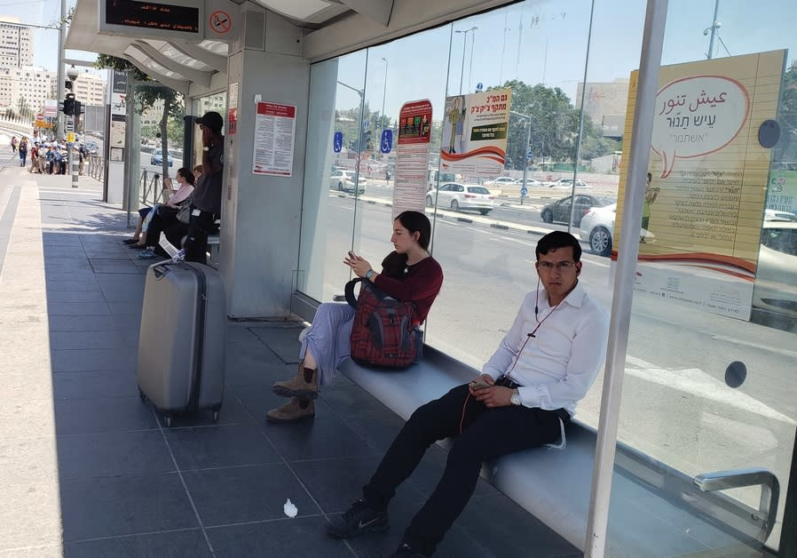 DURING THE first week of July 2018 CityPass in Jerusalem has put up posters at each light rail stati