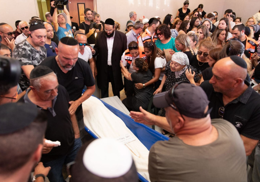 Funeral of Yotam Ovadia who was murdered by a Palestinian terrorist on July 26, 2018.