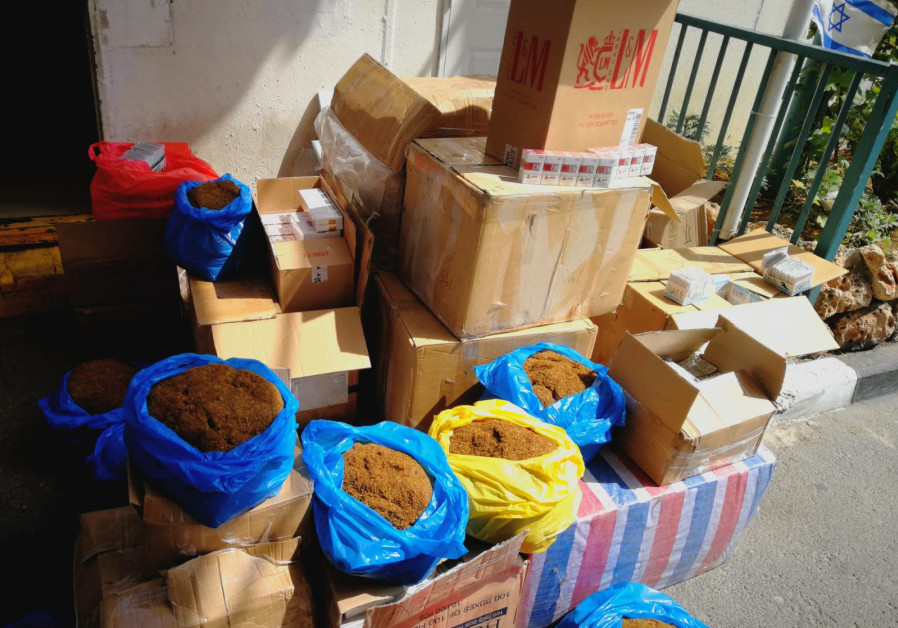 Captured counterfeit  tobacco and cigarettes