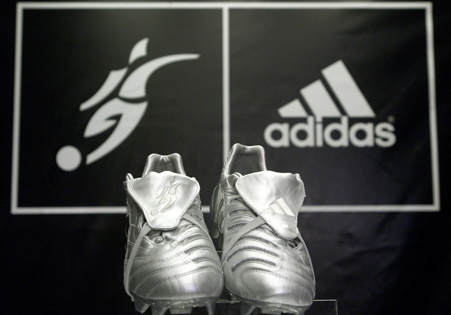 New Adidas cleats on display at New York store, 2005