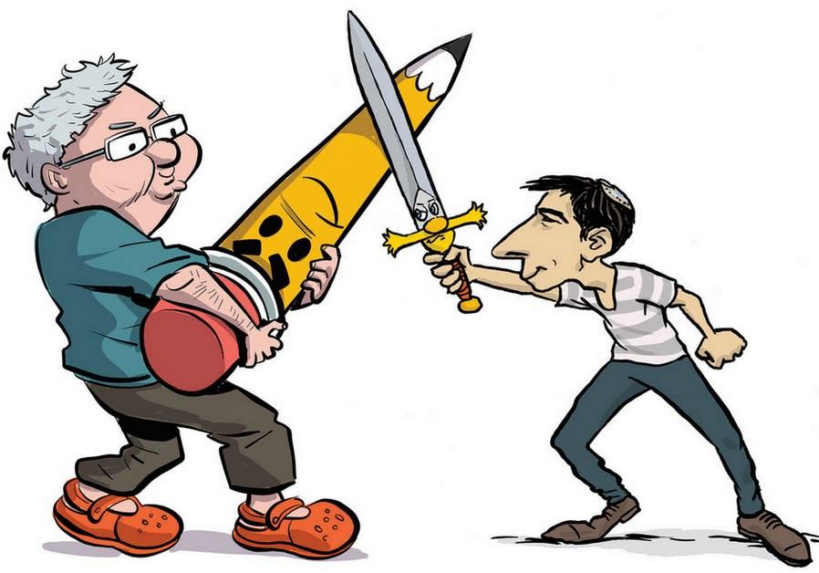 URI FINK's cartoon featured at the Tel Aviv Cinematheque's Animix Tel Aviv
