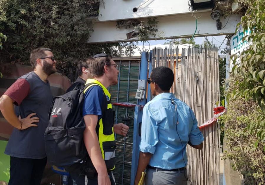 A suspected double murder in Netanya, August 2, 2018
