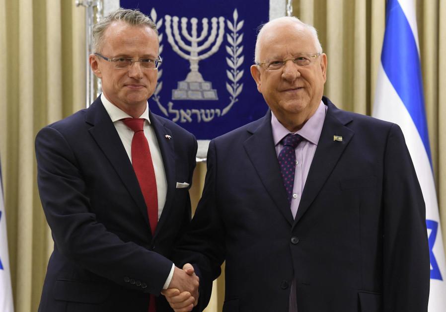 President Reuven Rivlin meeting Polish Ambassador Marek Magierowski, August 2, 2018