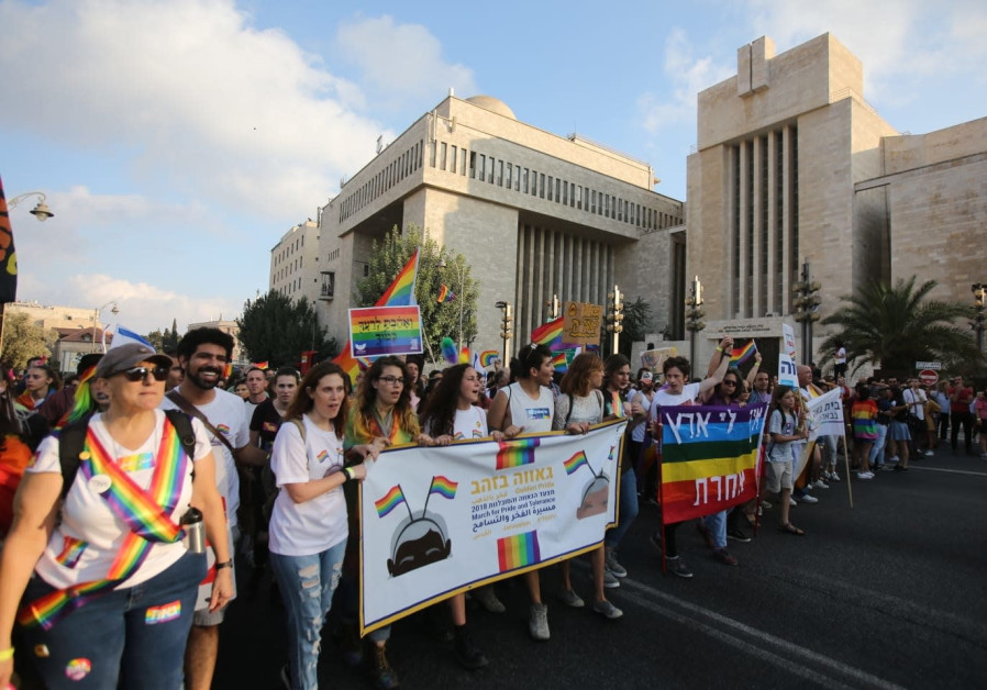 Jerusalem pride parade, 2 August 2018.