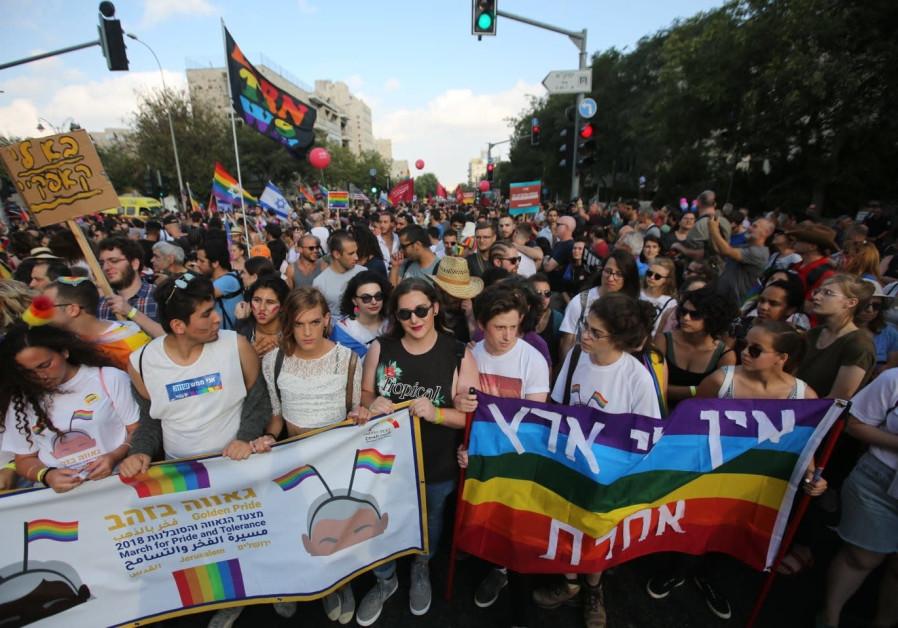 Jerusalem pride parade, 2 August 2018.