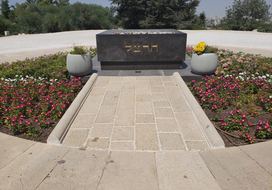 Herzl's grave at the top of Mount Herzl.
