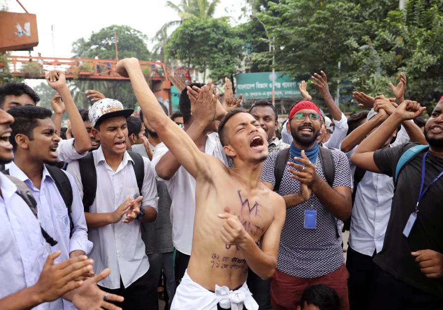 Bangladesh student protest alarms government of opposition meddling