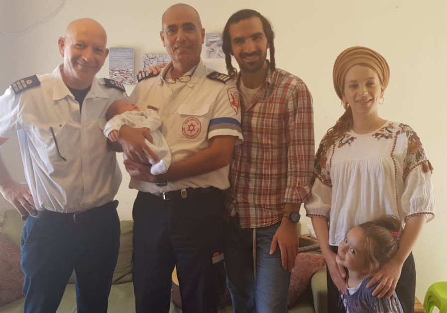 Marsiano family with MDA paramedics after playing guitar in the ambulance