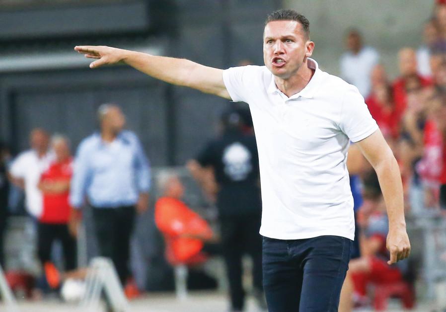 Hapoel Beersheba coach Barak Bachar, 7 August 2018.