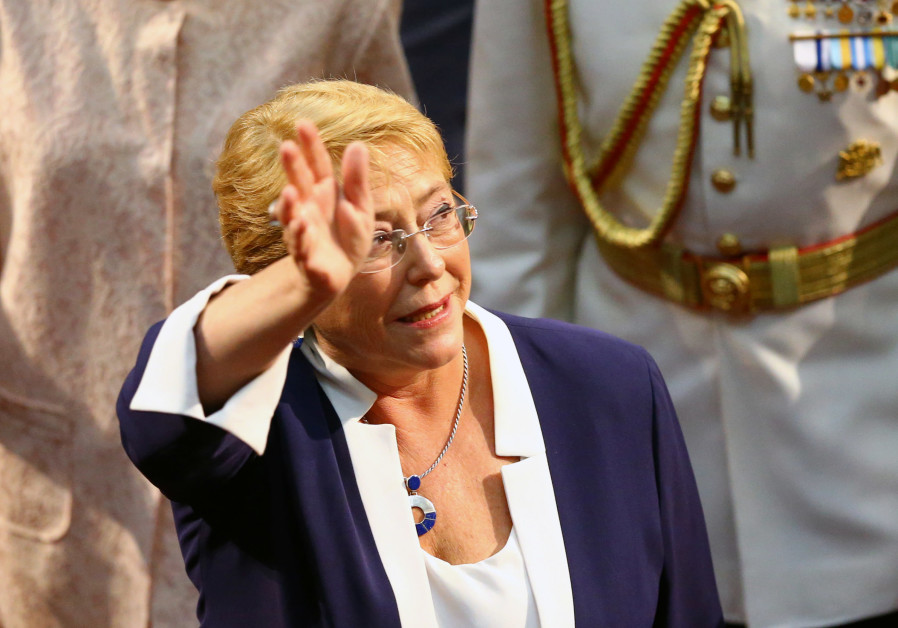 Chile's former President Michelle Bachelet leaves the Congress after the inauguration ceremony of Ch