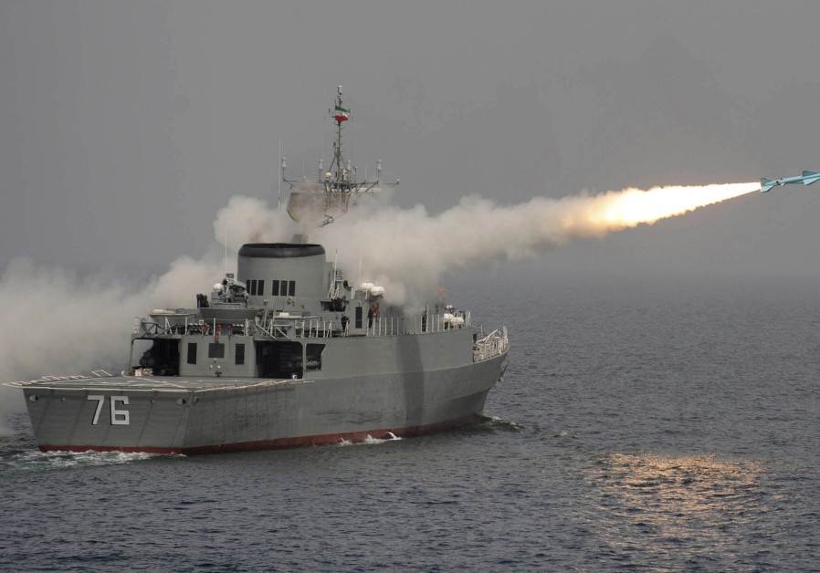 In possible message to U.S., Iran fires anti-ship missile during naval drills
