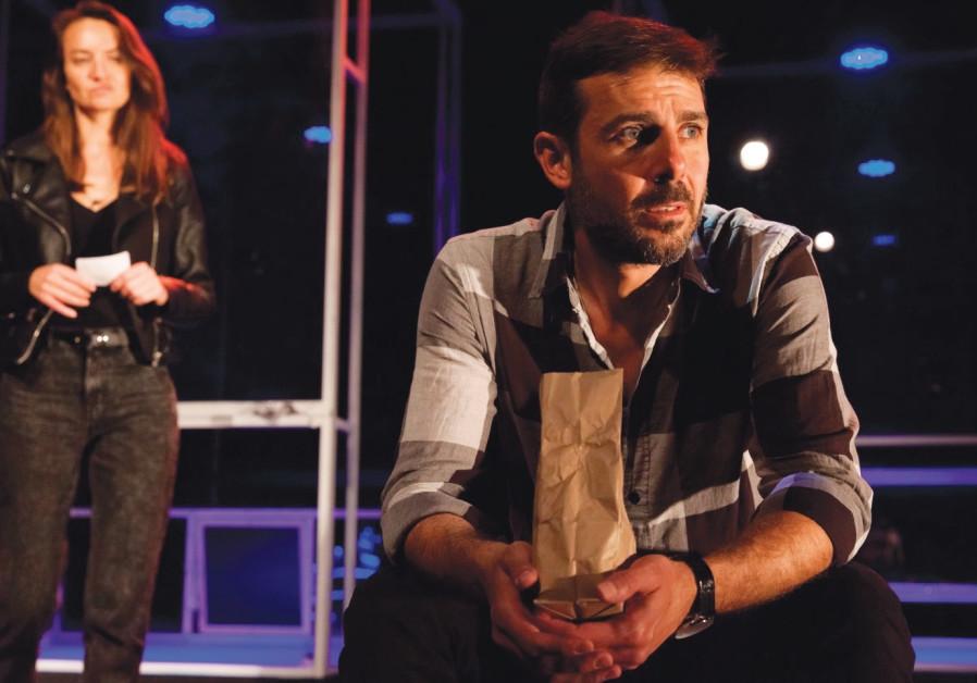 IN 'CHILDREN OF a Lesser God' at the Nalaga'at Theater, James (Nadav Nir) and Sarah (Heike Kiss)