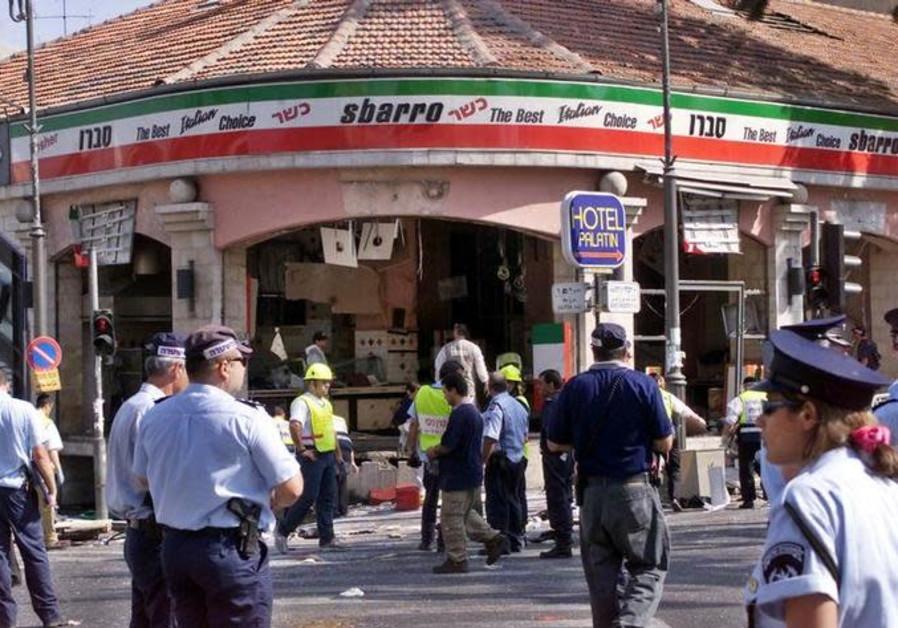 Sbarro pizzeria after Palestinian terrorists detonated a bomb