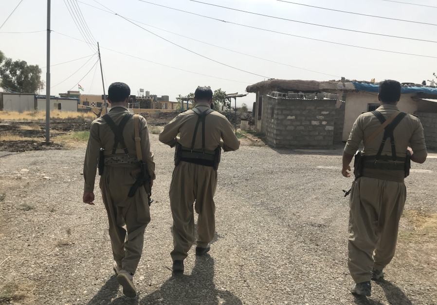 Kurdish PDKI members on patrol near the Iran Iraq border last year