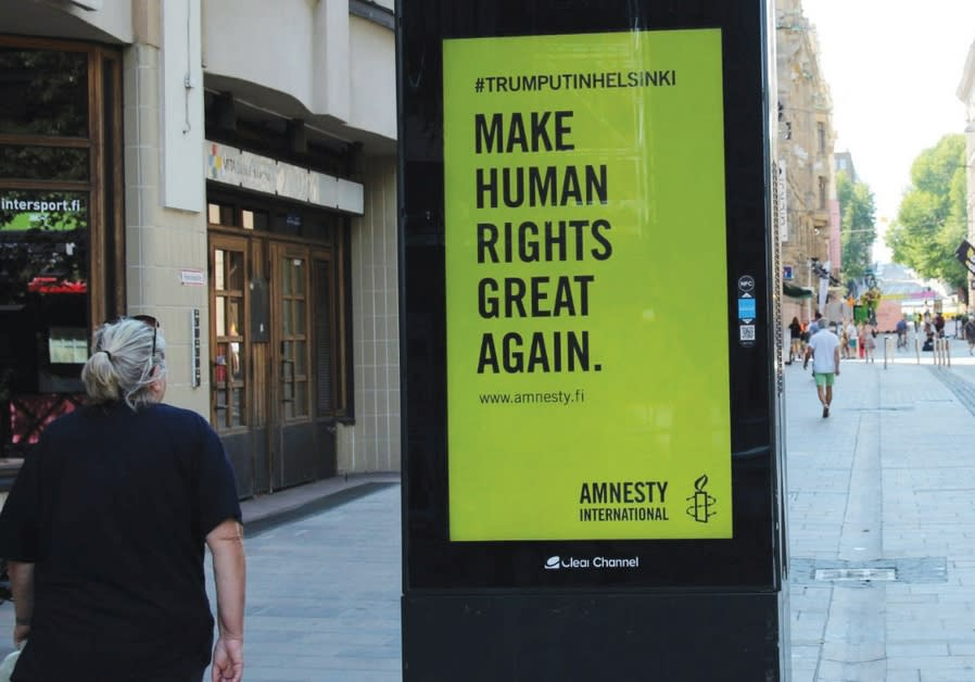 Amnesty international billboard