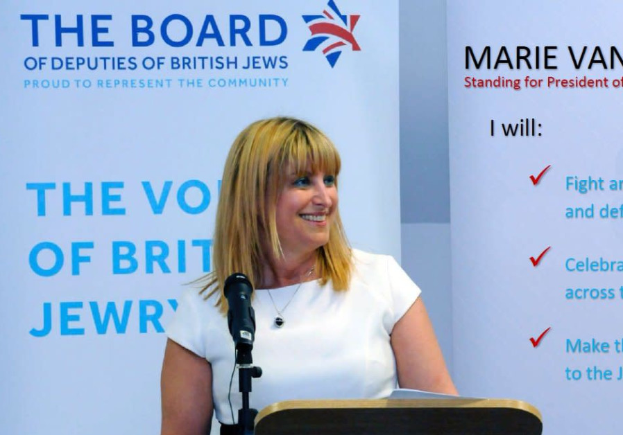 UK Board of Deputies Head Marie van der Zyl.