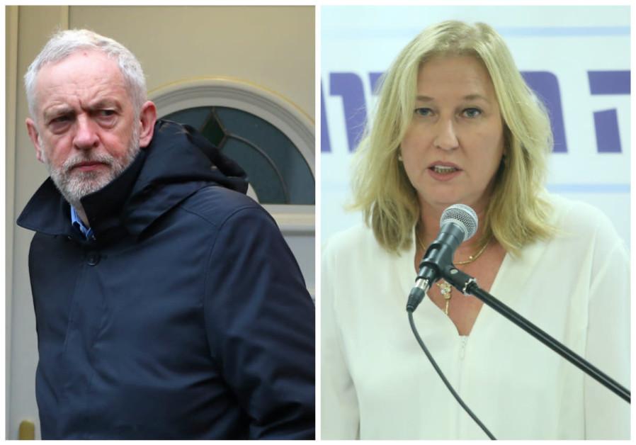Jeremy Corbyn called Tzipi Livni a 'war criminal' in 2010