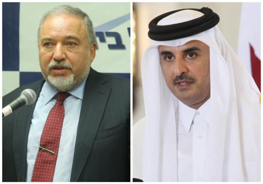 Liberman secretly met with Qatari FM to talk Gaza