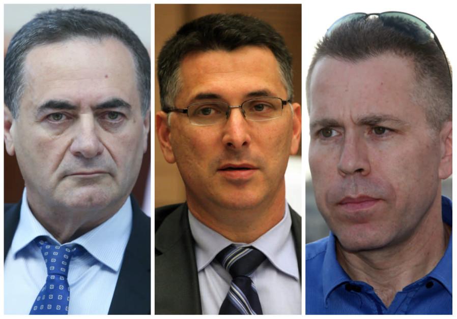 25. Gideon Sa'ar, Israel Katz, and Gilad Erdan