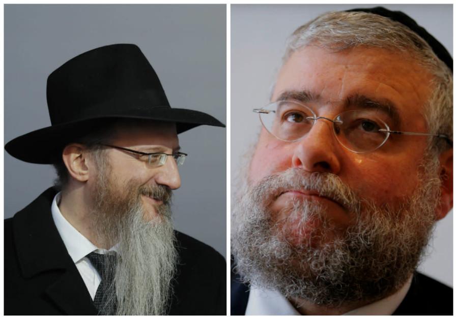 31. Rabbis Berel Lazar and Pinchas Goldschmidt