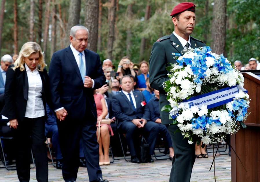 Netanyahu honors 70,000 Jewish victims of Ponary massacre