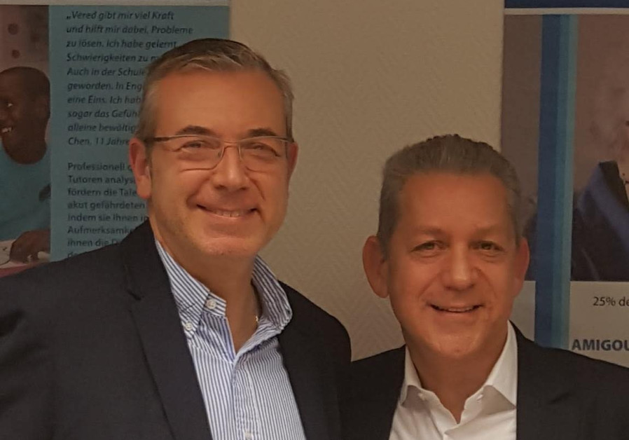 Chairman Sammy Endzweig on right, chairman of Keren Hayesod Germany, and deputy chairman Nathan Gelb