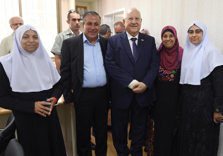 In wake of attack against Arabs, Rivlin visits Kafr Kassem