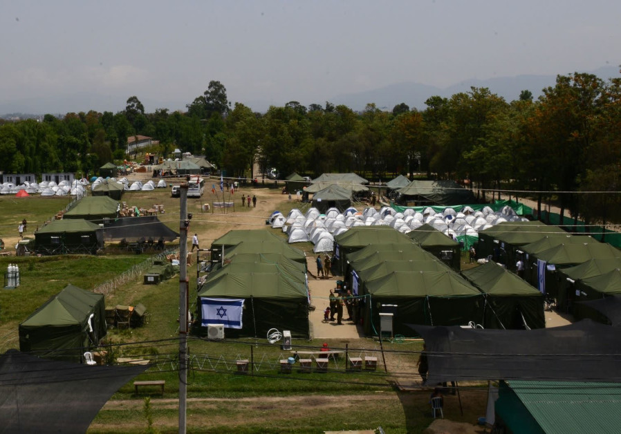 Overview of the IDF emergency field hospital in Nepal. Photo by IDF Spokesperson